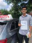YANISH passed with L Team Driving School