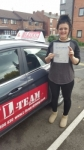 CHLOE passed with L Team Driving School
