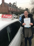 NATASHA passed with L Team Driving School