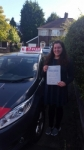 Bridget baraona passed with L Team Driving School