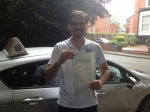 Nicolas passed with L Team Driving School