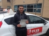 kamran passed with L Team Driving School