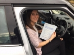Rebecca Fox passed with Mark Camburn Driving School
