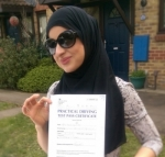 Farah (Weirside Gdns West Drayton) passed with Learn with Michael