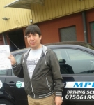 Amiri passed with Mpi Driving School