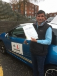 Gajendra Singh passed with Mr L Driving School