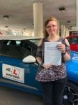 Rachel Harden passed with Mr L Driving School
