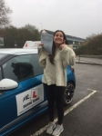 Amy Rosenburg passed with Mr L Driving School