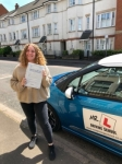 Savannah Halls passed with Mr L Driving School