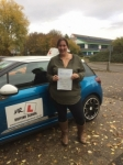 Carly Jacobs passed with Mr L Driving School