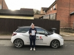 Hannah Denniss passed with Mr L Driving School