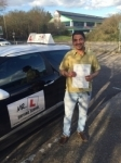 Nava Raj passed with Mr L Driving School