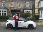 Saxon Cave-Berry passed with Mr L Driving School