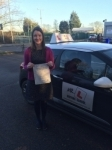 Hannah Vincent passed with Mr L Driving School