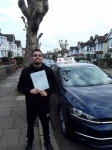 Chris (Southgate) passed with Hadley School Of Motoring
