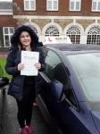 Zoe (Borehamwood) passed with Hadley School Of Motoring