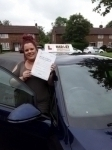 Zoe (Welwyn) passed with Hadley School Of Motoring