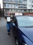 Kirsty (Finchley) passed with Hadley School Of Motoring