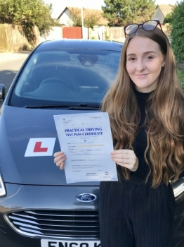 Thank you so much for everything! You've helped me gain so much confidence in driving and you've supported me so much through my constant stress and worrying. I enjoyed learning to drive with you and it has been a pleasure, you were always so relaxed while teaching me and always made sure I knew I could do it. I couldn't be happier with the result today and I would highly recommend you to an