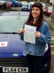 Aimee Greenwood passed with Peter Hamilton Driving School