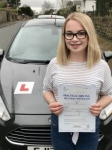 Aimee Haines from Bridgend passed with Peter Hamilton Driving School
