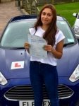 Alisha Ramji passed with Peter Hamilton Driving School