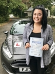 Bethan Percy passed with Peter Hamilton Driving School