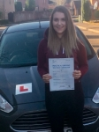 Bronwen Middleton passed with Peter Hamilton Driving School