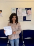 Candy Srinivas passed with Peter Hamilton Driving School
