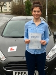 Charlotte Butcher passed with Peter Hamilton Driving School