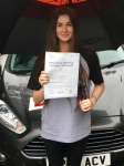 Charlotte Morris passed with Peter Hamilton Driving School