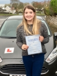 Christie Owen passed with Peter Hamilton Driving School