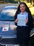 Dana Rees passed with Peter Hamilton Driving School