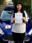 Dani Stephens passed with Peter Hamilton Driving School