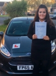 Darci Griffiths passed with Peter Hamilton Driving School