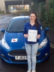 Dayna Jeynes passed with Peter Hamilton Driving School