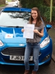 Demi Prichard passed with Peter Hamilton Driving School