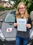 Demi Wood passed with Peter Hamilton Driving School