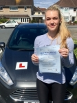 Elise Thomas passed with Peter Hamilton Driving School