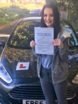 Elle Morey, Porthcawl passed with Peter Hamilton Driving School