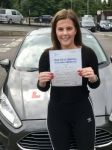 Emily Carter passed with Peter Hamilton Driving School