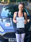 Emma-Lee Jenkins passed with Peter Hamilton Driving School