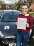 Emma Luke passed with Peter Hamilton Driving School