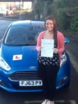 Emma Oakley passed with Peter Hamilton Driving School