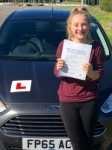 Gemma Carrieri passed with Peter Hamilton Driving School