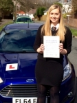 Georgia Butterworth passed with Peter Hamilton Driving School