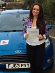 Hannah Adams passed with Peter Hamilton Driving School