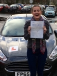 Imogen Stewart passed with Peter Hamilton Driving School