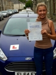 Jazmine Briganti passed with Peter Hamilton Driving School