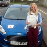 Jemma Price passed with Peter Hamilton Driving School